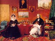 The Langford Family in their Drawing Room, James Holland