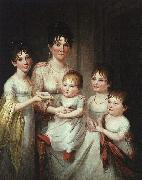 James Peale Madame Dubocq and her Children oil painting