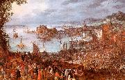 Jan Brueghel The Great Fish Market USA oil painting reproduction
