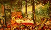 Jan Brueghel The Sense of Taste USA oil painting reproduction