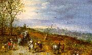 Jan Brueghel Wayside Encounter oil painting artist