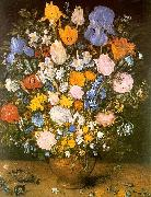 Jan Brueghel Bouquet of Flowers in a Clay Vase USA oil painting reproduction