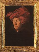 Jan Van Eyck A Man in a Turban   3 oil painting
