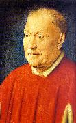Jan Van Eyck Portrait of Cardinal Niccolo Albergati oil painting