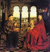 Jan Van Eyck The Virgin of Chancellor Rolin oil painting