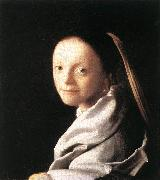 Jan Vermeer Portrait of a Young Woman oil painting reproduction