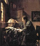 Jan Vermeer The Astronomer oil painting reproduction