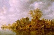 Jan van  Goyen River Landscape oil painting reproduction
