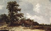 Jan van Goyen Farmyard with Haystack oil painting reproduction
