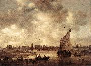 Jan van Goyen View of Leiden oil painting