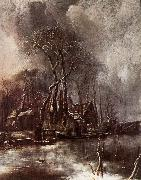 Jan van de Capelle Winter Landscape oil painting reproduction