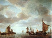 Jan van de Cappelle Ships on a Calm Sea near Land USA oil painting reproduction