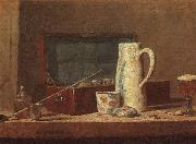 Jean Baptiste Simeon Chardin Pipes and Drinking Pitcher oil painting