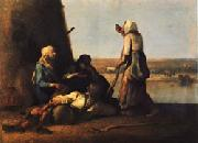 Jean Francois Millet The Haymakers' Rest oil painting