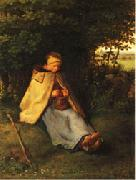 Jean Francois Millet Woman Knitting oil painting