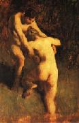 Jean Francois Millet Two Bathers oil painting