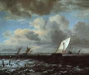 Jacob van Ruisdael Rough Sea oil painting artist