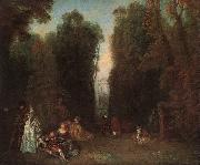 View through the trees in the Park of Pierre Crozat, Jean-Antoine Watteau