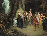Love in the French Theatre, Jean-Antoine Watteau
