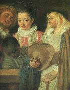 Actors from a French Theatre (Detail), Jean-Antoine Watteau