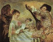 The Music Lesson, Jean-Antoine Watteau