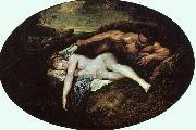 Jupiter and Antiope, Jean-Antoine Watteau