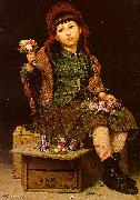 John George Brown Buy a Posy oil painting reproduction