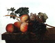 John Johnston Still Life with Fruit fhf oil painting