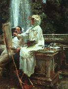 The Fountain at Villa Torlonia in Frascati, John Singer Sargent