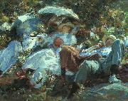 Group with Parasols, John Singer Sargent
