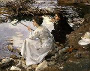 Two Girls Fishing, John Singer Sargent