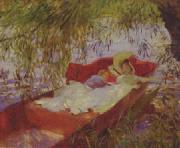 John Singer Sargent Two Women Asleep in a Punt under the Willows oil painting reproduction