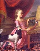 Young Lady with a Bird and a Dog