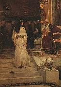 John William Waterhouse Marianne Leaving the Judgment Seat of Herod oil painting