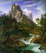 The Wetterhorn with the Reichenbachtal