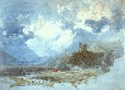 Joseph Mallord William Turner Dolbadern Castle oil painting