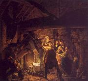 Joseph Wright The Forge oil painting