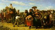 Jules Breton The Vintage at the Chateau Lagrange USA oil painting reproduction
