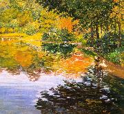 Kate Clark Mill Pond oil painting reproduction