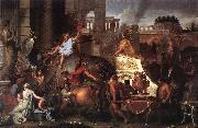 LE BRUN, Charles Entry of Alexander into Babylon h oil painting