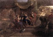 LE BRUN, Charles The Resolution of Louis XIV to Make War on the Dutch Republic g oil painting