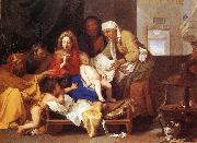 LE BRUN, Charles Holy Family with the Adoration of the Child s oil painting