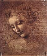 LEONARDO da Vinci The Virgin and Child with St Anne (detail)  f oil painting