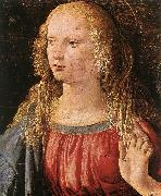 LEONARDO da Vinci Annunciation (detail) dfe oil painting artist