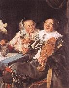 LEYSTER, Judith Carousing Couple oil painting artist