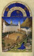 LIMBOURG brothers Les trs riches heures du Duc de Berry: Juillet (July) dh oil painting reproduction