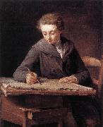 LePICIeR, Nicolas-Bernard The Young Draughtsman dg oil painting artist