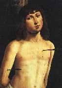Lorenzo  Costa Saint Sebastian USA oil painting reproduction