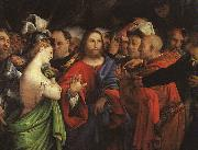 Christ and the Adulteress, Lorenzo Lotto