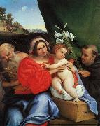 Lorenzo Lotto Virgin and Child with Saints Jerome and Anthony USA oil painting reproduction